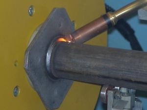 Сварной шов выполненный на установке АС305-2Х
