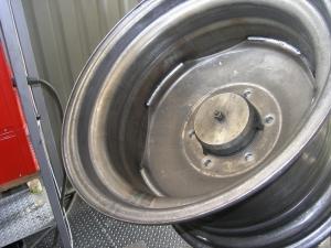 Колесо сваренное прерывистыми швами на установке АС339