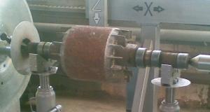 Ротор электродвигателя после наплавки