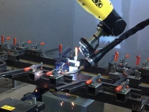 Сварка каркасов стульев Школьник, верх на робототехническом комплексе РК752