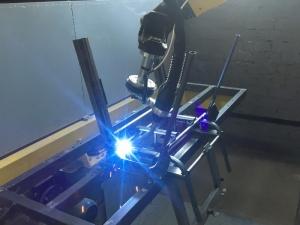 Сварка каркасов стульев Изо на робототехническом комплексе РК752