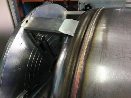 Кольцевой шва сваренный на установке АС305-1Эн