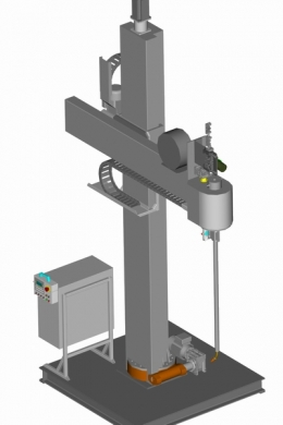 Колонна АС408 для наплавки внутренних и наружных цилиндрических поверхностей способом МИГ/МАГ-сварки
